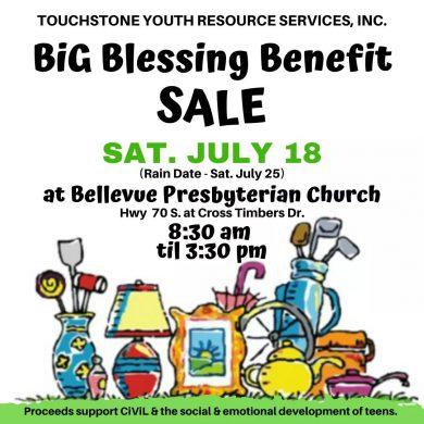 Big Blessing Benefit Sale July 18